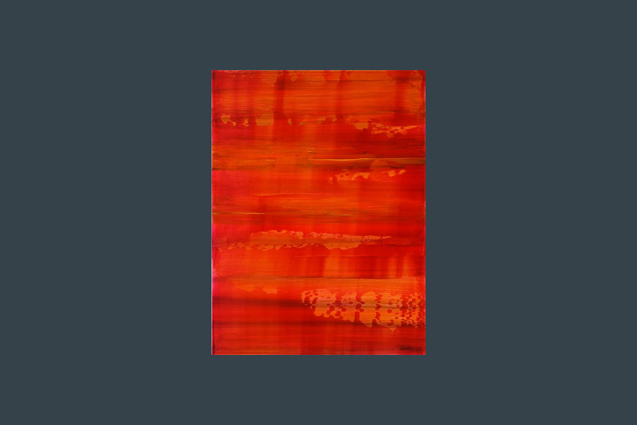 red and orange painting