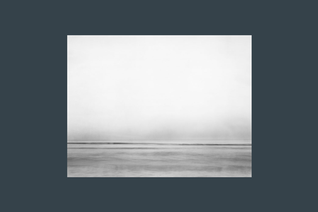 seascape in black and white