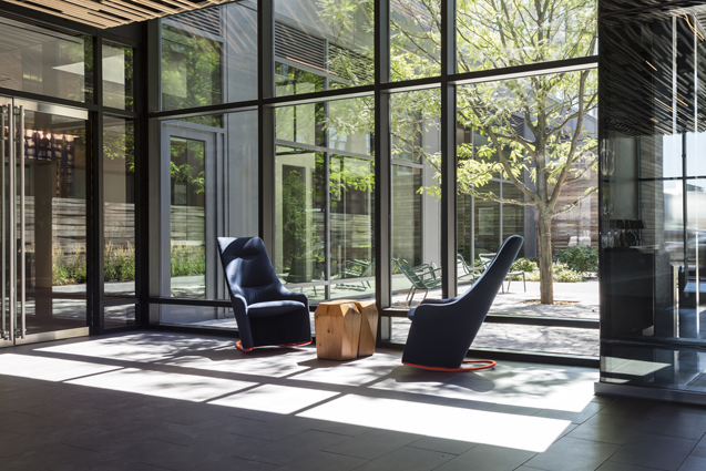 residential lobby rocking chair