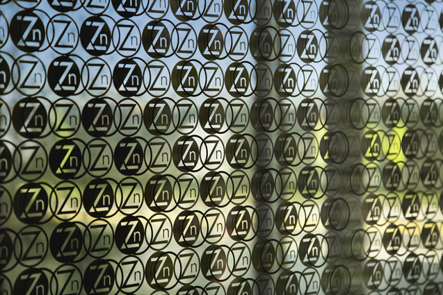 zinc logo window graphic