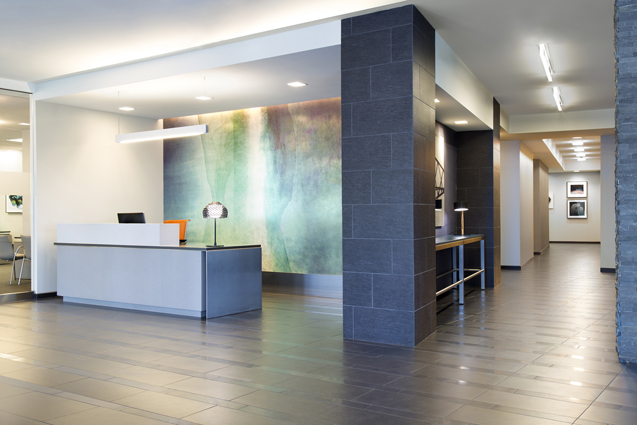 residential lobby reception desk