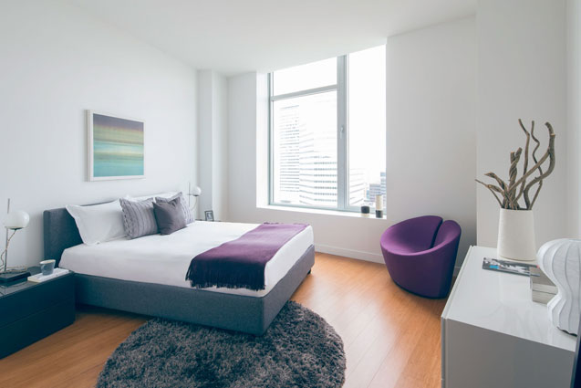 radian boston residence bedroom